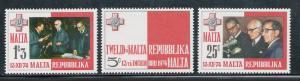 MALTA 1975 MNH SC.488/490 Republic