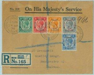 BK0418 - British Honduras - POSTAL HISTORY - SG# 138 - 42 on REGISTERED COVER