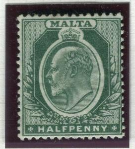 MALTA; 1903-04 early Ed VII issue fine Mint hinged Shade of 1/2d. value