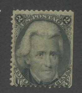 1863 US Stamp #73 2c Mint Hinged Average Middle Crease L73A Catalogue Value $140