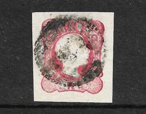 PORTUGAL 1856-58 25r  KPV  IMPERF   FU SG 22