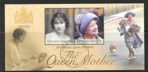 PITCAIRN ISLANDS SGMS627 2002 QUEEN ELIZABETH QUEEN MOTHER FINE USED