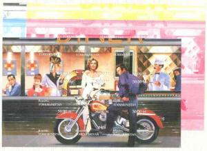Turkmenistan 1999 Bikers Diner (M Monroe, James Dean, Bog...