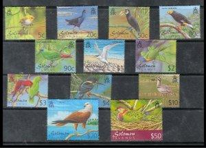 Solomon Islands 2001 birds  fauna set MNH