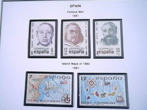 1981  Spain  MNH  full page auction