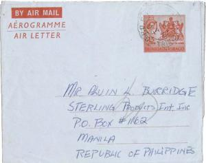 Trinidad 15c QEII Coat of Arms Air Letter 1967 G.P.O. Port of Spain, Trinidad...