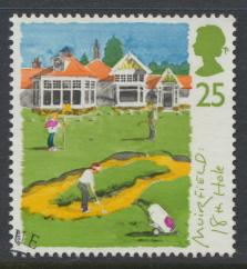 Great Britain  SG 1830 SC# 1568 Used / FU with First Day Cancel - Golf Scotti...