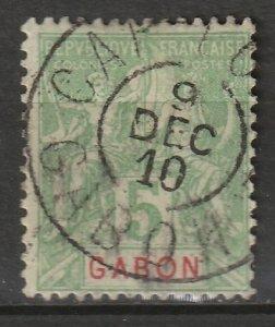 Gabon 1904 Sc 19 used Cap Lopez CDS