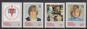 British Antarctic 92-5 Princess Diana mnh