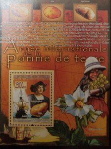 O) 2008 GUINEA, INTERNATIONAL YEAR OF THE POPE- TUBER - FLOWER, FOOD, CHRISTOPHE