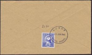 GB LUNDY 1985 15p Puffin on commercial cover................................5724