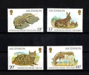 ASCENSION - 1983 - IGUANA - RABBIT - CAT - DONKEY + 4 X MINT - MNH SET!