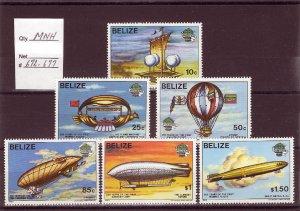 BELIZE SC# 672-677 MNH