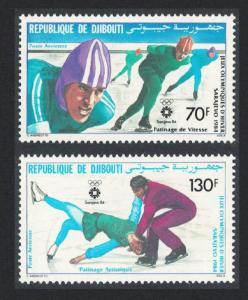 Djibouti Winter Olympic Games Sarajevo 2v 1984 MNH SG#903-904