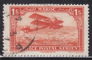 Fr Morocco C7 Hinged 1922 Biplane Over Casablanca