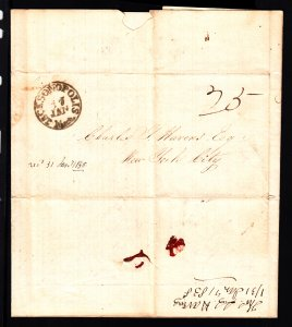 Rare 1838 Jacksonopolis MI SFL from the Havens correspondence