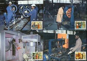 Ciskei 1986 Bicycle Factory Welding Painting Assembly Sc 94-97 Max Cards # 16545