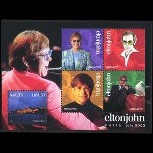 MALTA 2003 - Scott# 1134 S/S Singer E.John NH