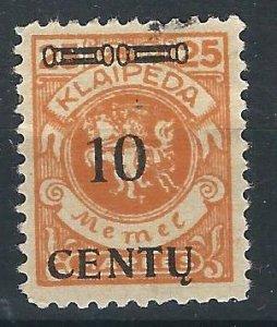 Memel N46 Mi 1639 MH F/VF 1923 SCV $6.00