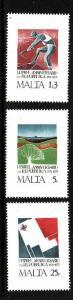 Malta-Sc#501-3-unused NH set-Republic anniversary-1975-
