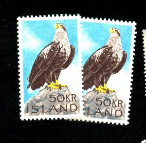 ICELAND #378 (2) MINT VF OG NH Cat $30