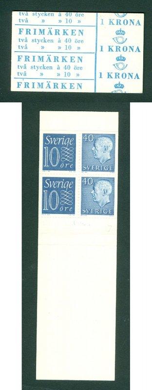 Sweden. Booklet 1964 Mnh. King,Numeral   2/40 + 2/10 Ore .Facit # HA 12 OV.