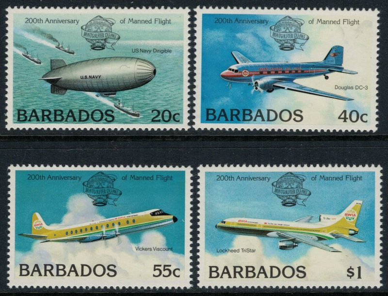 Barbados #606-9* NH  CV $4.70