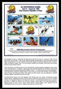 Palau-Scott#465-unused NH sheet-Sports-4th Micronesian Games-1998-