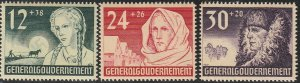 Stamp Germany Poland General Gov't Mi 056-58 Sc NB5-7 1940 WWII War Era MH