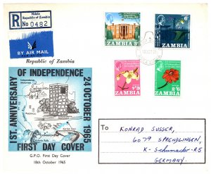 Zambia, Worldwide First Day Cover, Flowers