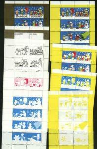 Denmark. Christmas Seal 1990. Set Booklet Sheets Scale/Proof,Mnh. Perforated.