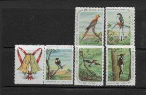 BIRDS - CUBA #691-5  MNH