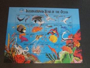 Ghana 1998 Sc 2059 Bird,sea animal set MNH