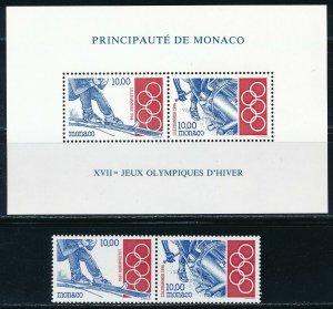 Monaco - Lillehammer Olympic Games MNH Sport Set (1994)
