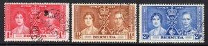 Bermuda 1937 Coronation set used