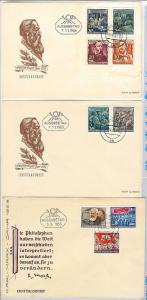 GERMANY DDR -  POSTAL HISTORY - MICHEL 344/53 on 3 FDC Covers - Friedrich Engels