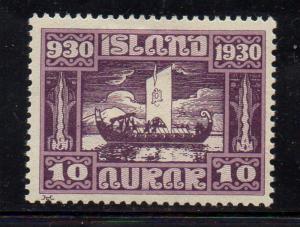 Iceland 1930 10 aur Viking Ship stamp mint