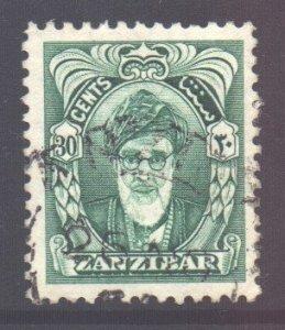 Zanzibar Scott 235 - SG344, 1952 Sultan 30c used