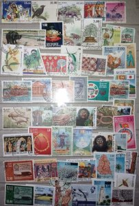 Sri Lanka Stamp Collection 100 Different Stamps