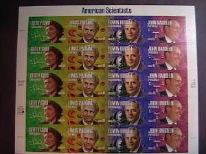 U.S.# 4224-4227(4227a)-MINT/NH--PANE OF 20---AMERICAN SCIENTISTS---2008