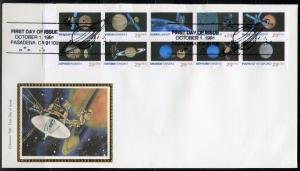 UNITED STATES COLORANO 1991 PLANETS BOOKLET PANE  FIRST DAY COVER