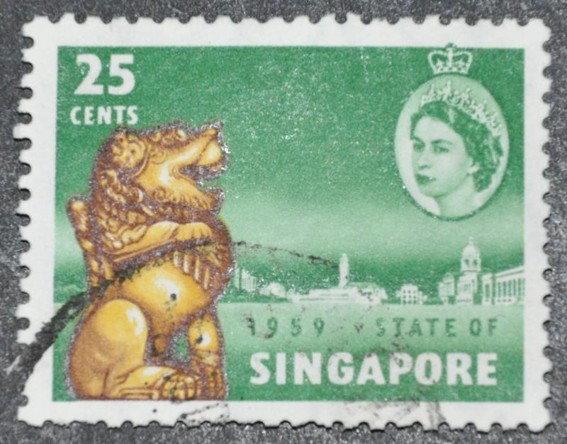 DYNAMITE Stamps: Singapore Scott #46 – USED