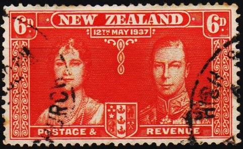 New Zealand. 1937 6d S.G.601 Fine Used