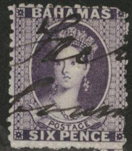 BAHAMAS SG31, Scott 14 1863 6p Queen Victoria stamp  CV$85