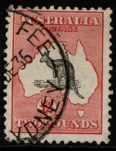 AUSTRALIA SG114 1930 £2 BLACK & ROSE FINE USED