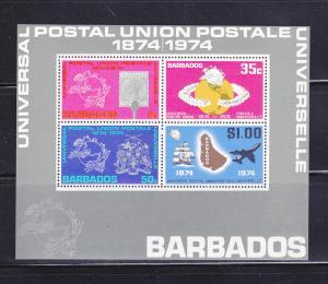 Barbados 415a Set MNH UPU (B)