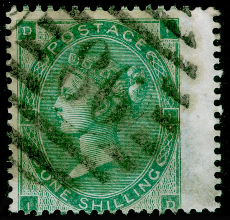 SG89, 1s deep green, USED. Cat £500. ID