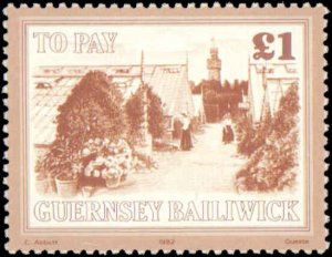 Great Britain Guernsey #J30-J41, Complete Set(12), 1982, Never Hinged