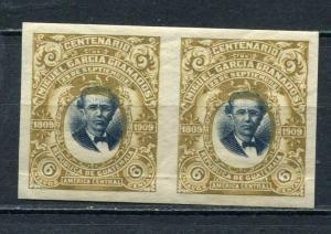 Guatemala 1910 Sc 140 MNH Imperf Pair Shifted Center Gen. Miguel Garcia Granados