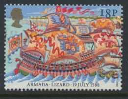 Great Britain SG 1400  Used   - Spanish Armada